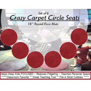 Children's Crazy Carpet Circle Seats Engine Red Set 6