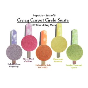 Children's Crazy Carpet Circle Seats Popsicle Set 5