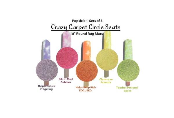 Children's Crazy Carpet Circle Seats Popsicle Set 5