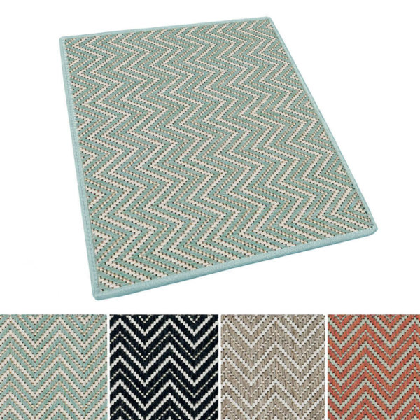 Kalani Chevron Custom Cut Indoor Outdoor Area Rug Collection | Indoor Outdoor Carpet Patio Area Rugs Customize Your Size & Shape