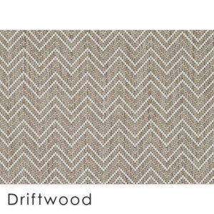 Kalani Chevron Custom Cut Indoor Outdoor Area Rug Collection | Indoor Outdoor Carpet Patio Area Rugs Customize Your Size & Shape Driftwood