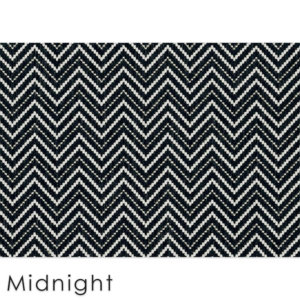 Kalani Chevron Custom Cut Indoor Outdoor Area Rug Collection | Indoor Outdoor Carpet Patio Area Rugs Customize Your Size & Shape Midnight
