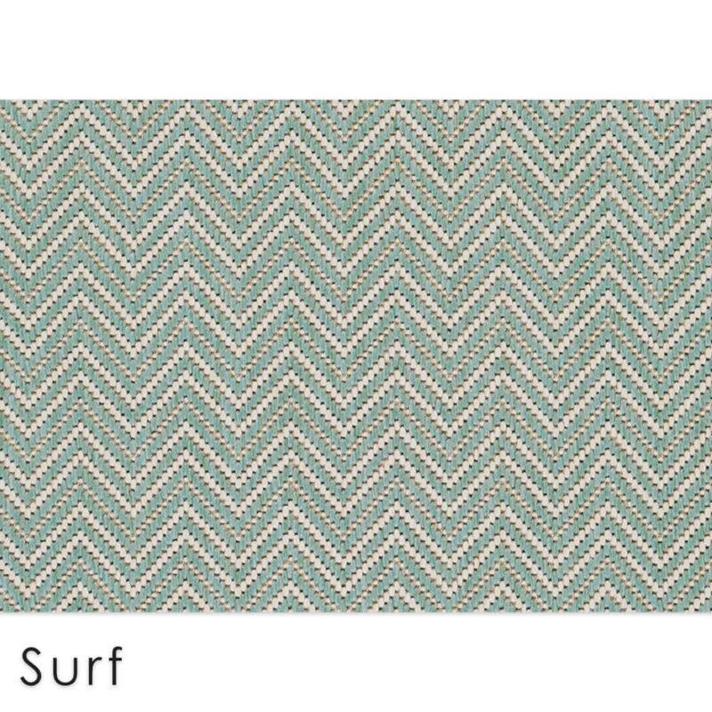 Kalani Chevron Custom Cut Indoor Outdoor Area Rug Collection | Indoor Outdoor Carpet Patio Area Rugs Customize Your Size & Shape Surf