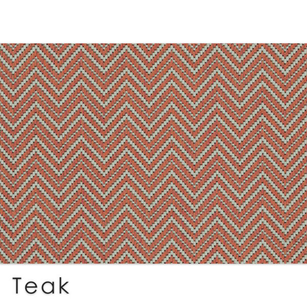 Kalani Chevron Custom Cut Indoor Outdoor Area Rug Collection   Indoor Outdoor Carpet Patio Area Rugs Customize Your Size & Shape Teak