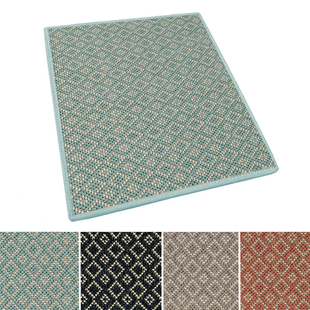 Malia Custom Cut Indoor Outdoor Area Rug Collection