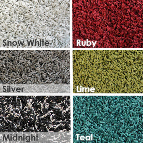 Shag Multi Color Indoor Area Rug Collection
