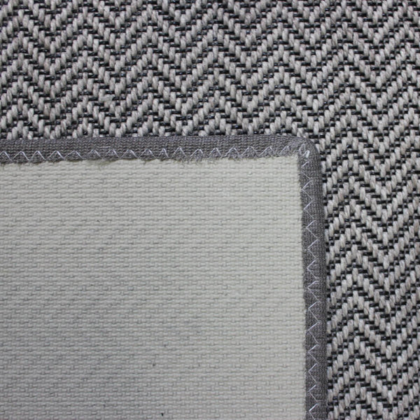Luxurious Tunisia Chevron Pattern Indoor/Outdoor Wear Ever Collection Backing