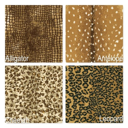 Cape Town Animal Print Pattern Indoor Area Rug Collection