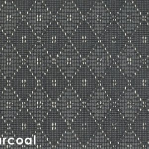 Somersworth Diamond Pattern Indoor Area Rug Collection Charcoal