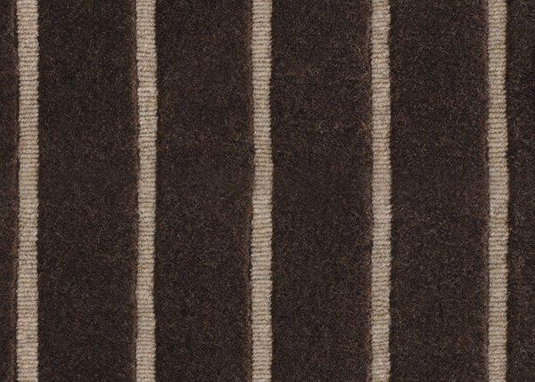 Chocolate Wool Tones Stripe