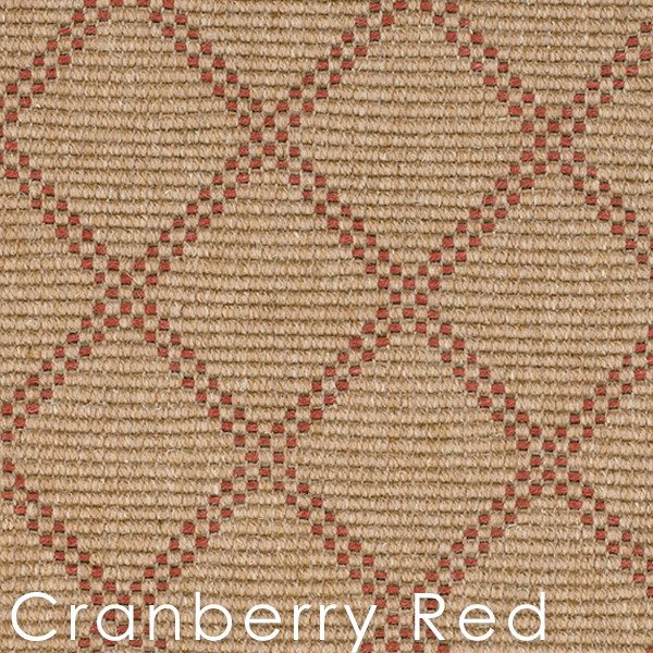 Cranberry Red Bedford Collection Custom Cut Area rugs