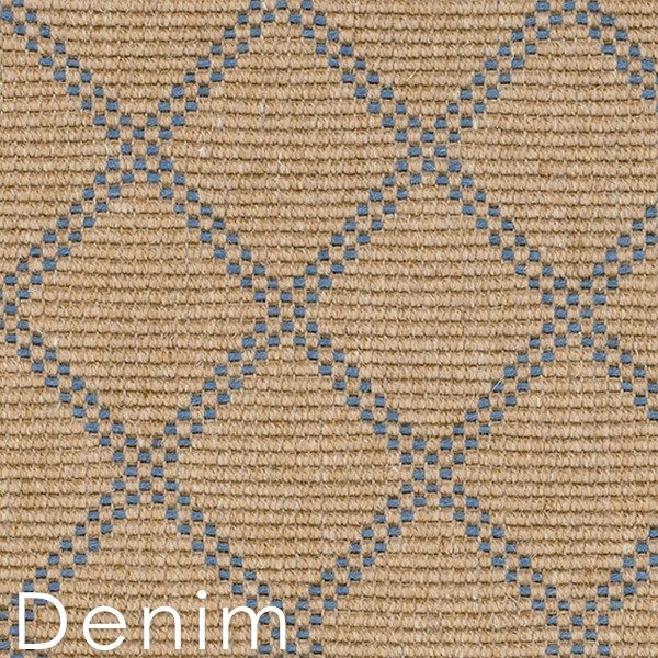 Denim Bedford Collection Custom Cut area Rugs