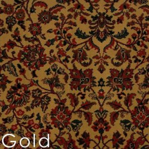 Gold isfahan custom cut area rug