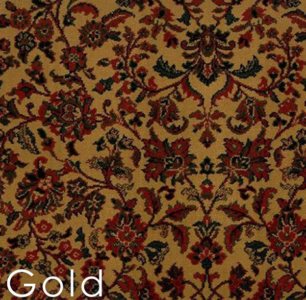 Gold isfahan custom cut area rug