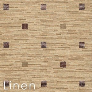 Gridiron Linen Custom Cut area rug