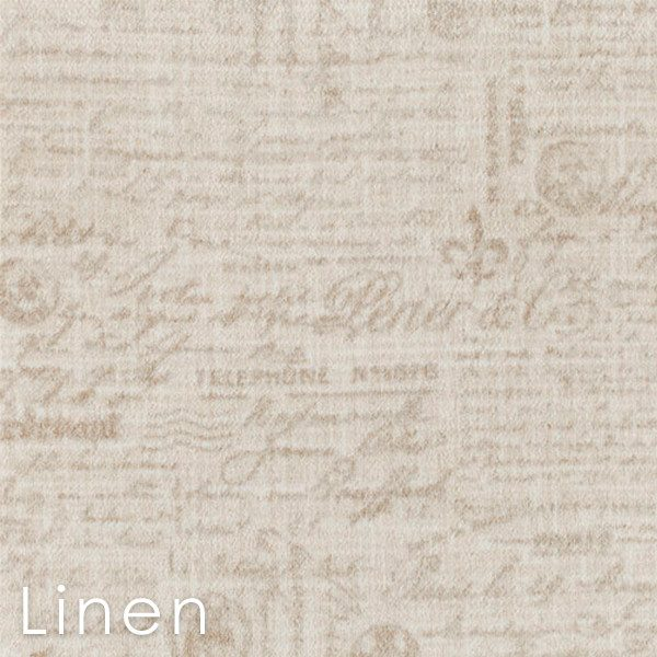 Letters D'Amore Linen Custom Cut Area Rugs