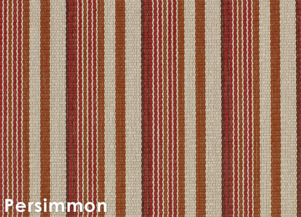 Astin Stripe Pattern Indoor Area Rug Collection Persimmon