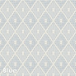 Somersworth Diamond Pattern Indoor Area Rug Collection Soft Blue