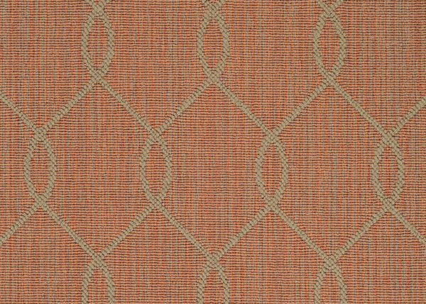 Teak Paloma Ogee Pattern Indoor Area Rug Collection