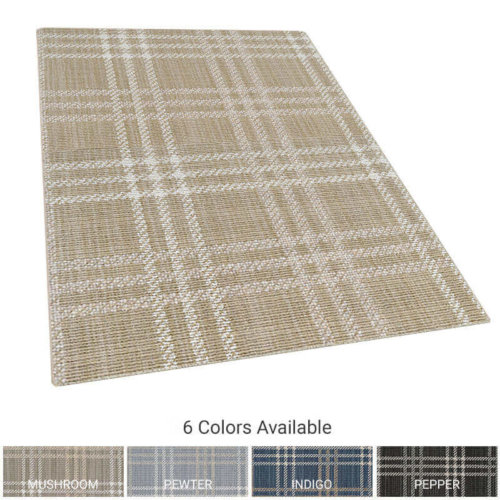 Avery Plaid Pattern Indoor Area Rug Collection