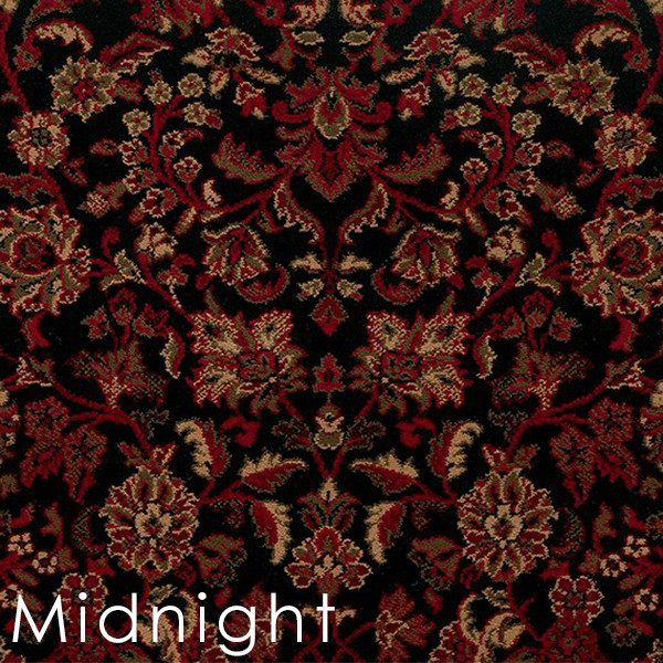 midnight isfahan custom cut area rugs