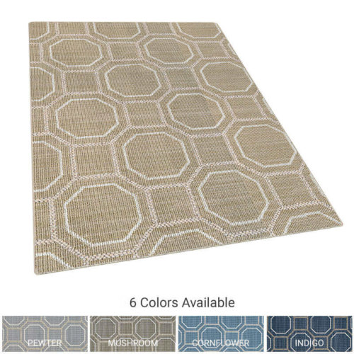Peyton Octagon Pattern Indoor Area Rug Collection
