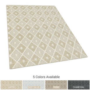 Somersworth Diamond Pattern Indoor Area Rug Collection