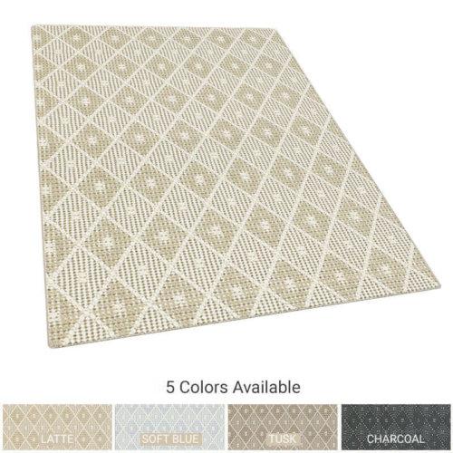 Somersworth Diamond Pattern Indoor Area Rug Collection