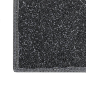 Charcoal Black Indoor-Outdoor Durable Soft Area Rug Carpet Corner