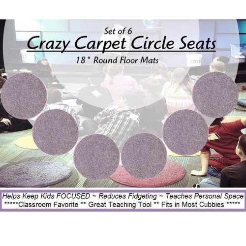 Children's Crazy Carpet Circle Seats Misty Lilac Sets of 6