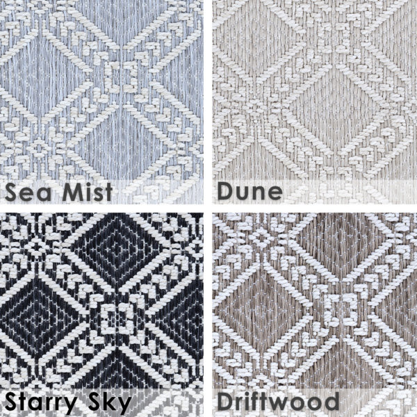 Belmar Custom Cut Indoor Outdoor Area Rug Collection