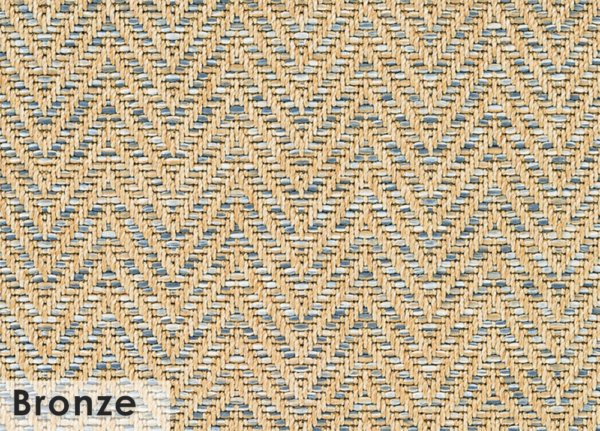 Tortola Chevron Pattern Indoor Outdoor Area Rug Collection Bronze