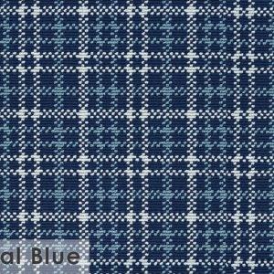 Castle Hill Custom Cut Indoor Outdoor Area Rug Collection Regal Blue