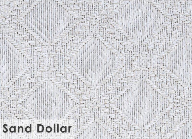 Belmar Custom Cut Indoor Outdoor Area Rug Collection Sand Dollar