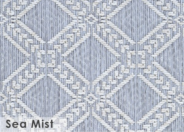 Belmar Custom Cut Indoor Outdoor Area Rug Collection Sea Mist
