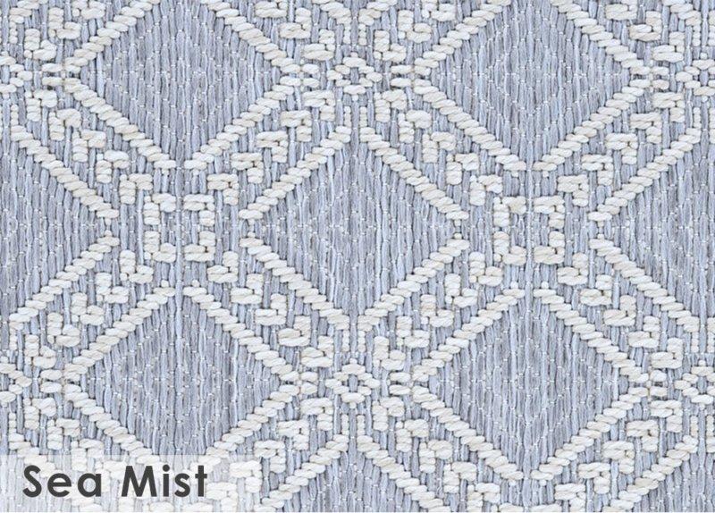 Belmar Custom Cut Indoor Outdoor Area Rug Collection Sea Mist