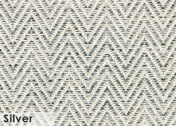 Tortola Chevron Pattern Indoor Outdoor Area Rug Collection Silver