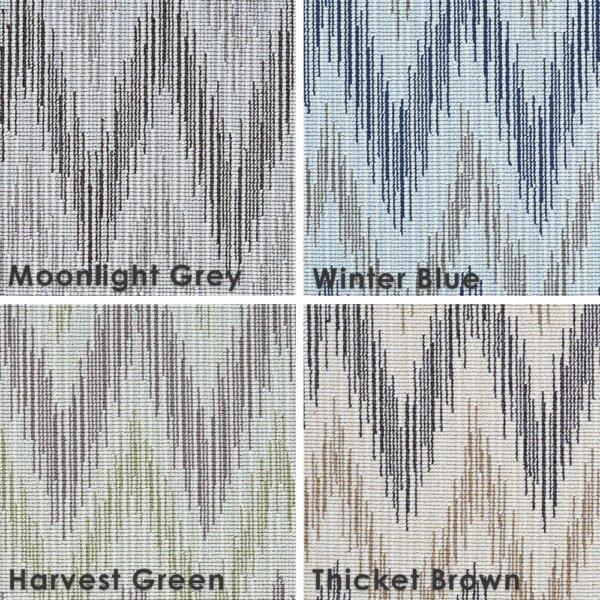 Thicket Brown Stockbridge Custom Cut Indoor Outdoor Area Rug Collection