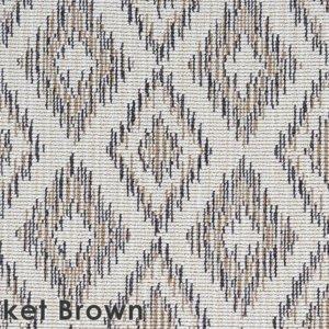 Thicket Brown Berkshire Custom Cut Indoor Outdoor Area Rug Collection