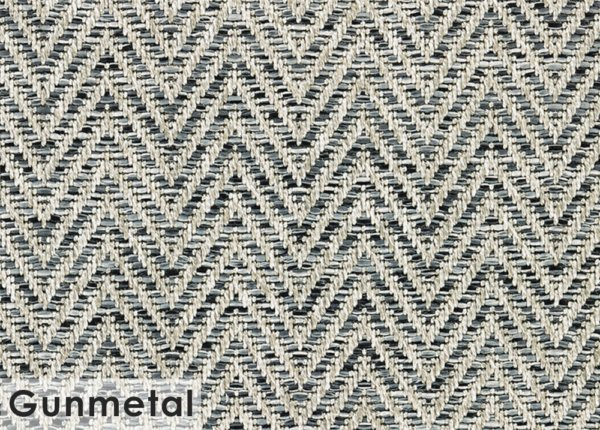 Tortola Chevron Pattern Indoor Outdoor Area Rug Collection Gunmetal