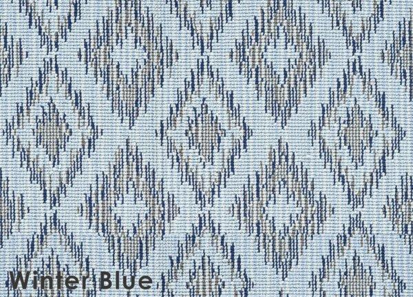 Winter Blue Berkshire Custom Cut Indoor Outdoor Area Rug Collection