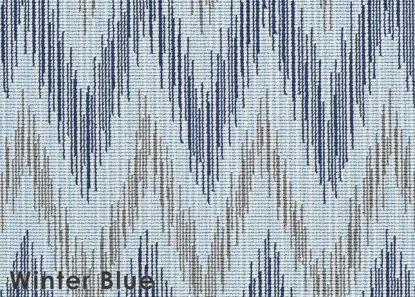 Winter Blue Stockbridge Custom Cut Indoor Outdoor Area Rug Collection