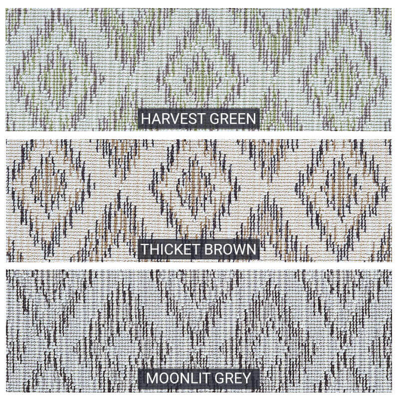 Berkshire Custom Cut Indoor Outdoor Area Rug Collection - 3 Colors Available