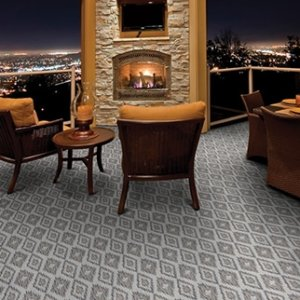 Berkshire Custom Cut Indoor Outdoor Area Rug Collection Room Scene
