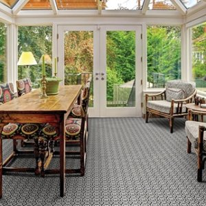 Pelican Island Custom Cut Indoor Outdoor Area Rug Collection Room