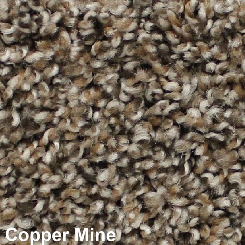 West Brow Indoor Frieze Area Rug Collection Copper Mine