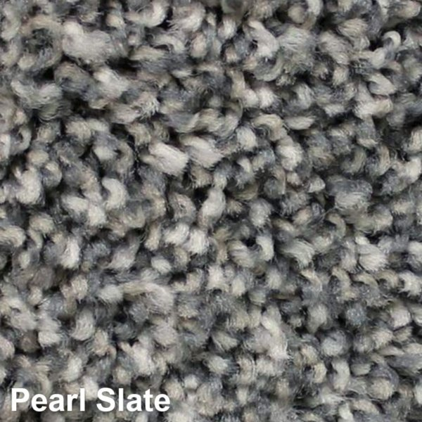 West Brow Indoor Frieze Area Rug Collection Pearl Slate