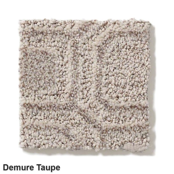 Genoa Pattern Area Rug Collection Demure Taupe