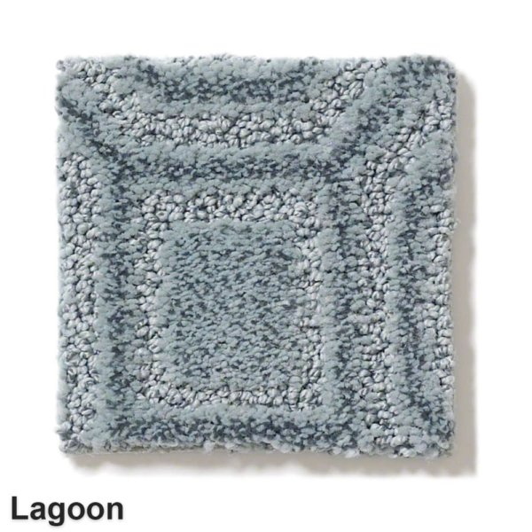 Genoa Pattern Area Rug Collection Lagoon