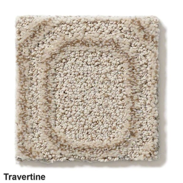 Genoa Pattern Area Rug Collection Travertine
